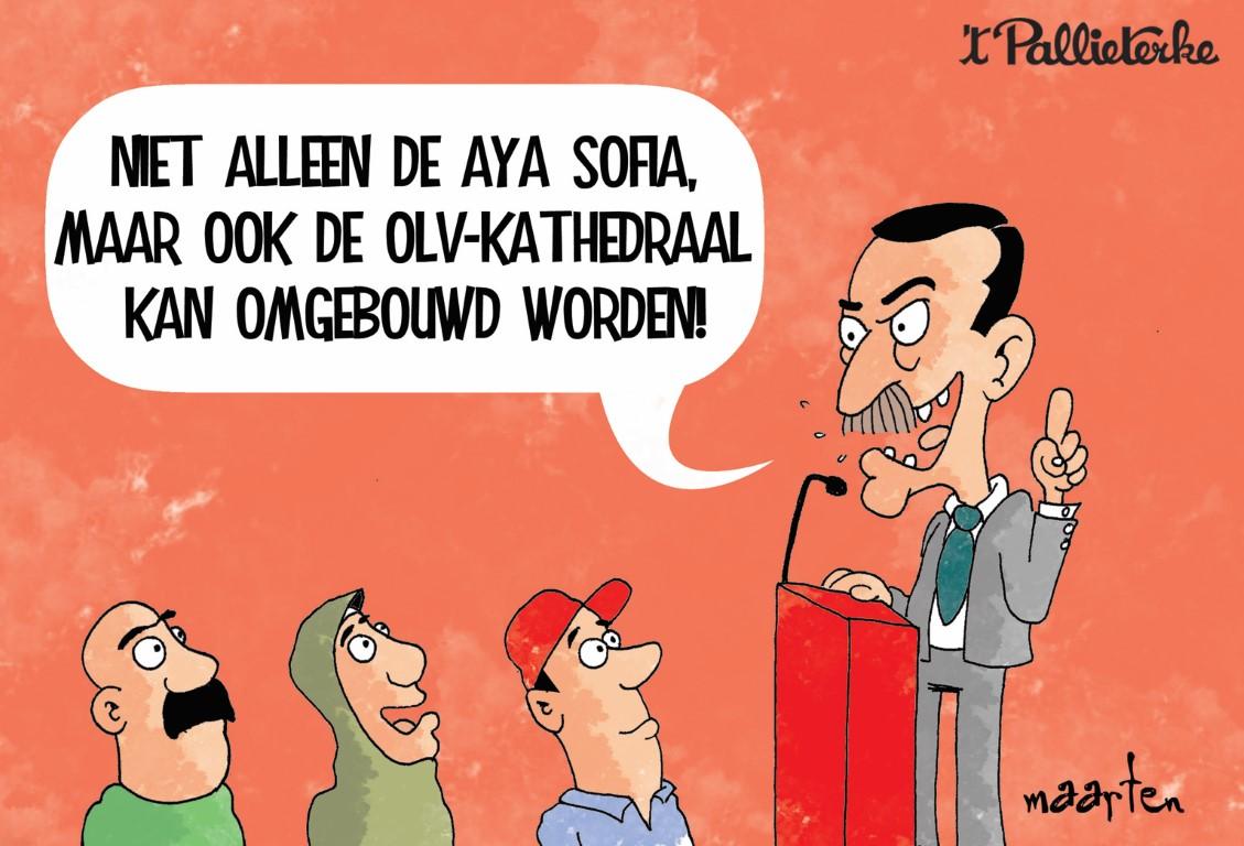 Hoera! Onze Turkse kalief Erdogan was hier!    u0026#39;t Pallieterke