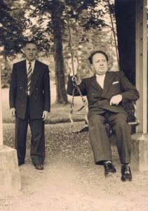 Jan Nuyts (links op de foto) samen met Bruno de Winter